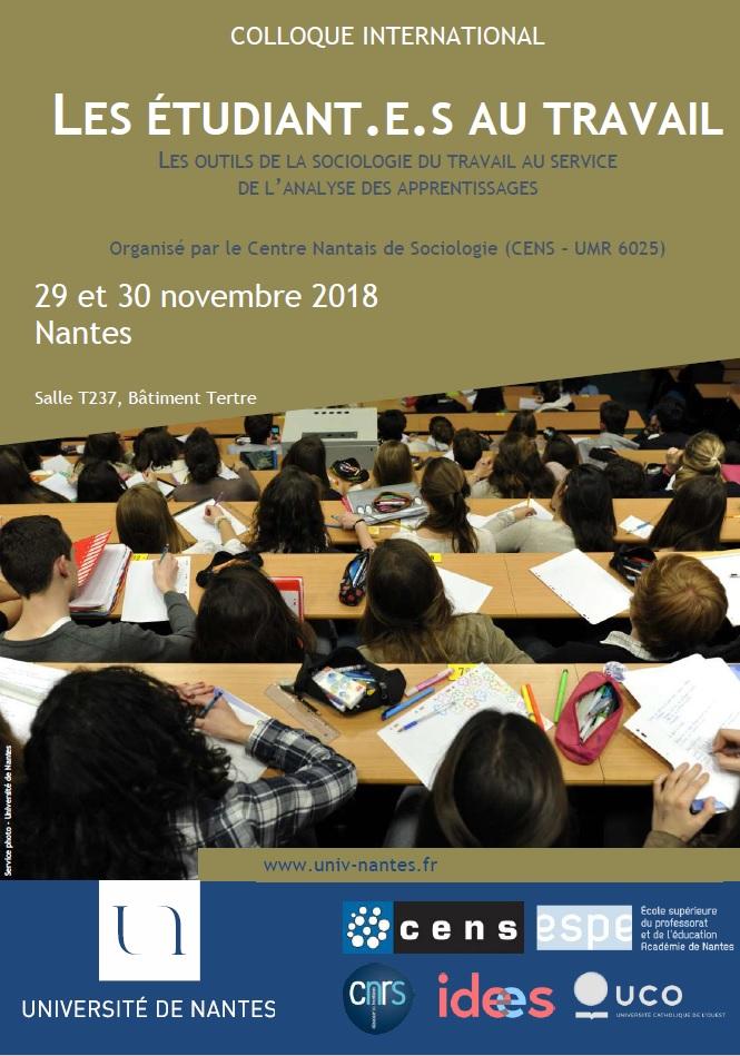 COLLOQUE INTERNATIONAL LES ETUDIANT.E.S AU TRAVAIL - Les outils de la sociologie du travail au service de l'analyse des apprentissages
